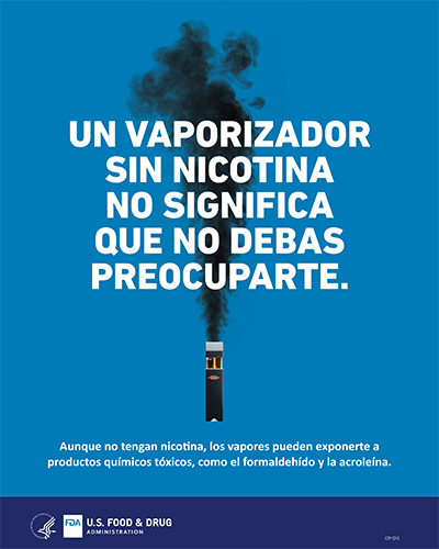 """This poster is designed to educate youth about the potential dangers of e-cigarette use, or """"vaping."""""""