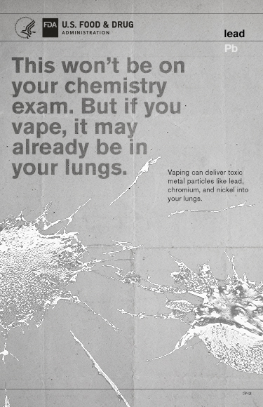 "Poster designed to educate youth about the potential dangers of e-cigarette use, or ""vaping."""