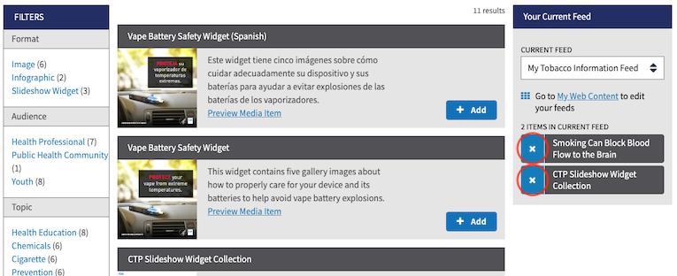 Button: Remove Media Item