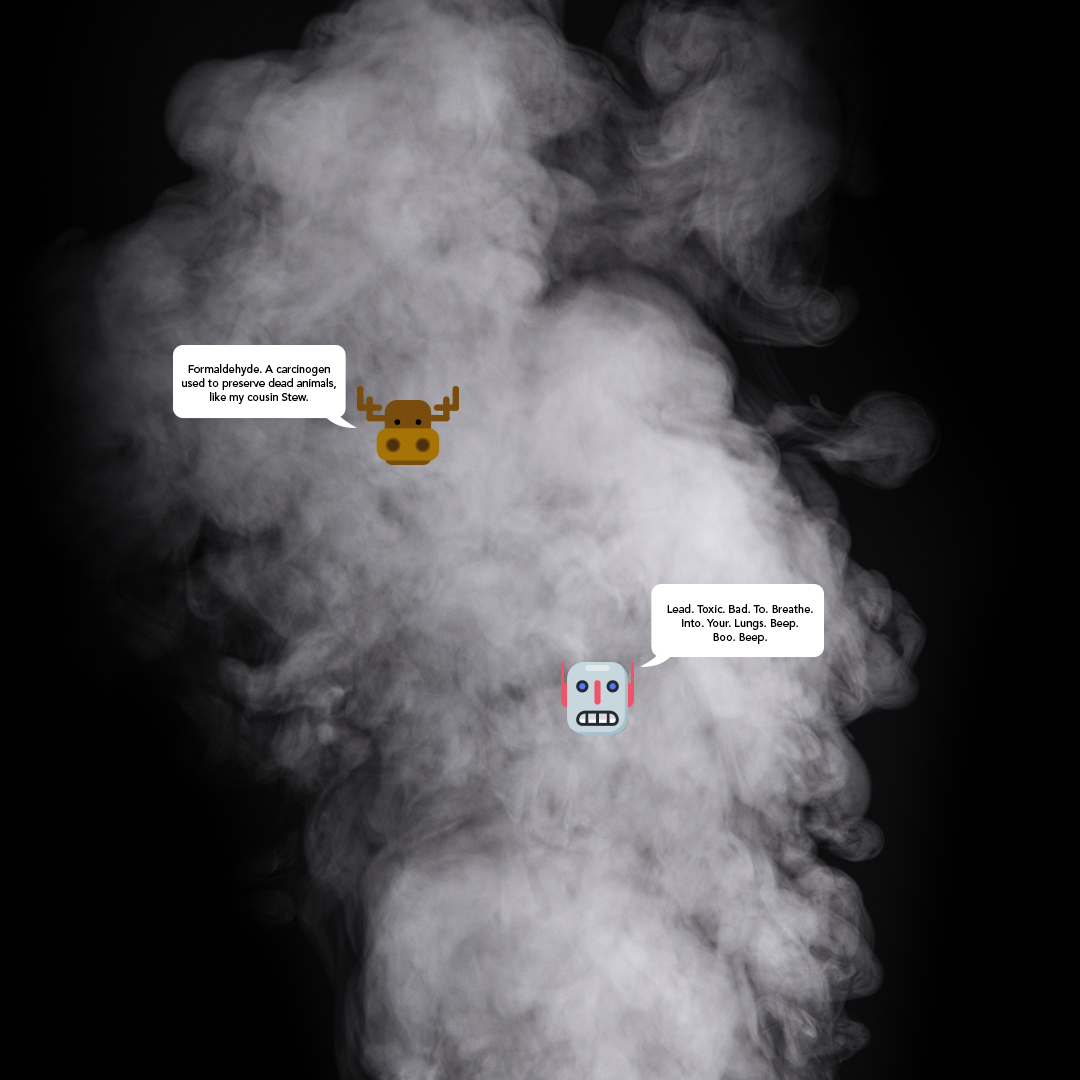 Not sure what could be in a vape cloud? Zoom in to learn. #Vape #Vaping #Ecigs #Ecig
